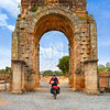 Arch roman of Caparra in Spain Extremadura