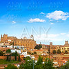 Caceres skyline in Extremadura of Spain