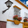Triana barrio of Seville facades Andalusia Spain