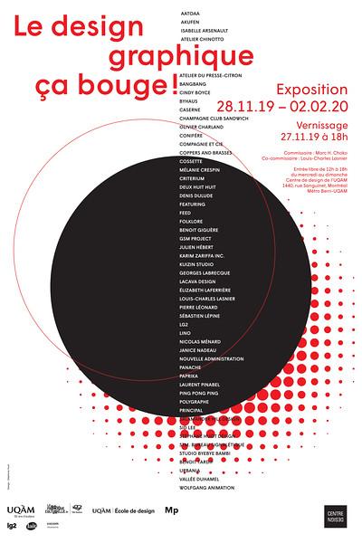 Affiche_Le design graphique ça bouge_ Expo_2019_Centre de design_Design Stéphane Huot