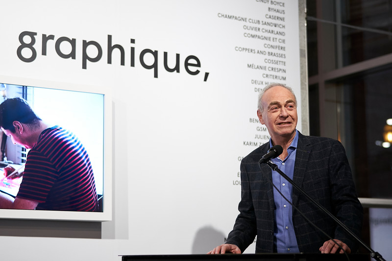 Le design graphique, ça bouge_Vernissage_CENTRE DE DESIGN DE L'UQAM_2019_© Benoit Rousseau