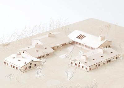 Maquette - Pelletier de Fontenay + Leclerc architecte - Lauréat Lab-École - Shefford