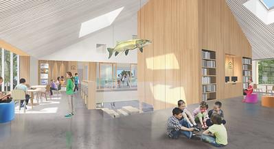 Vue d'une classe - Consortium Lucie Paquet + Paulette Taillefer + Leclerc architectes - Lauréat Lab-École - Maskinongé