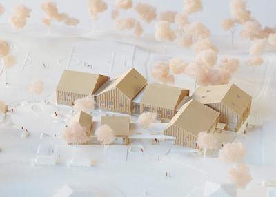 Maquette - APPAREIL Architecture + Étienne Bernier Architecture + BGLA - Lauréat Lab-École - Saguenay