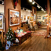 The is the scene that met visitors to my SouthGlen gallery.  The display area was 2,000 square feet, providing plenty of space for the good lighting to reveal all the fine detail.  An array of gift and decor items supplemented the art, with a range of much lower and affordable price points.
