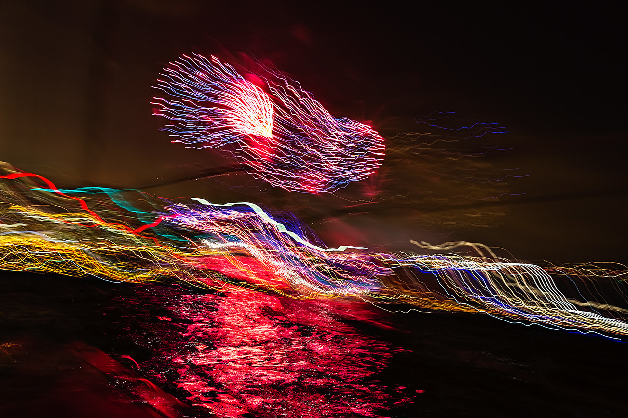 fireworks from a rocking boat #720