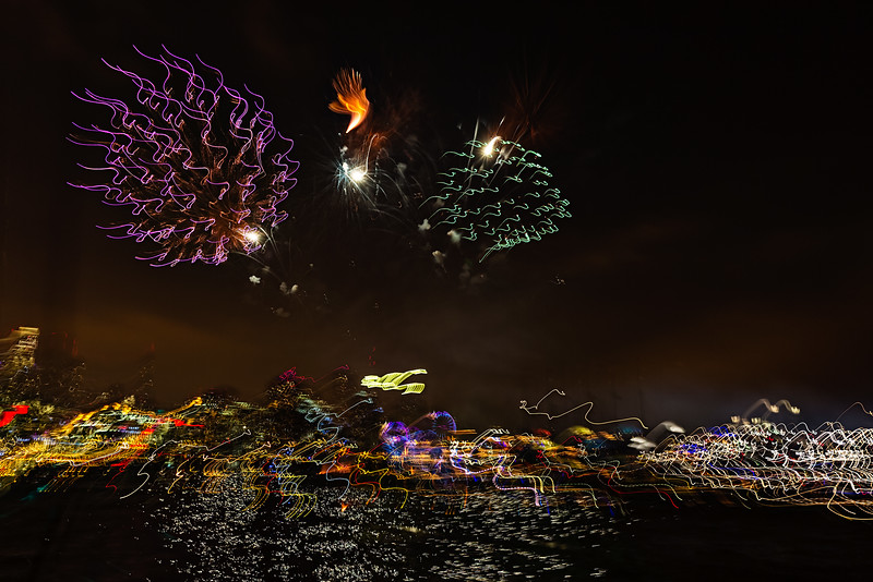 fireworks from a rocking boat #752