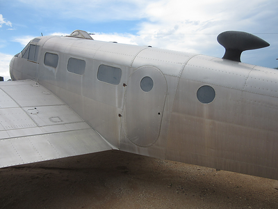 Museum C-45 at PIMA , Tucson showing our plan to install orig door.