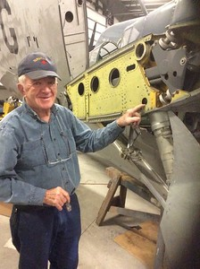 Mick working on the Firefly.
