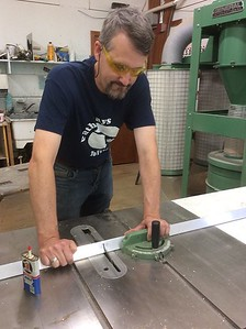 Brad cutting T- 6061 on a table saw  ,  using a carbide  blade . . . .  easy !