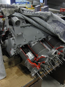 RANGER 6 cyl inverted motor - 1950's