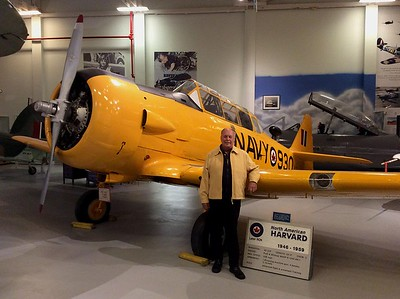 Earl Cassidy , Lara's dad who flew these Harvards in Montreal.