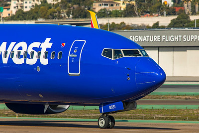 Southwest Airlines Boeing 737-8H4 N8551Q 1-31-20