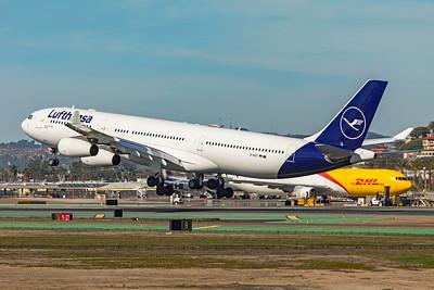 Lufthansa Airbus A340-313 D-AIGT 1-31-20 2