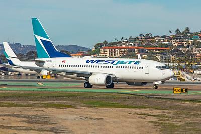 WestJet Boeing 737-7CT C-GYWJ 1-31-20