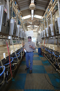 """Delhi,CA---Ray Prock, Jr.is a second generation dairy farmer who runs Ray-Lin dairy and is on a mission to empower farmers use social media to tell their stories. Prock is widely popular in agriculture circles with a Twitter following of some 11,000 subscribers. Prock says he treats his 500 Holstein and Jersey cows well and runs a green operation. Prock's has blog postings dealing with """"the Animal Rights activists use of sensationalism,"""" on his Wordpress blog."""