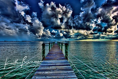 Dock on San Carlos Bay, Sanibel Island, FL
