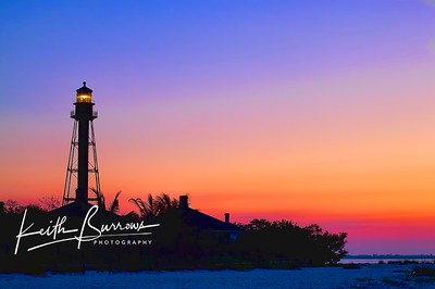 The Sanibel Lighthouse just before sunrise