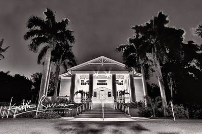 The School House Theater at Night