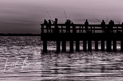 Sanibel Fishing Pier Before Sunrise