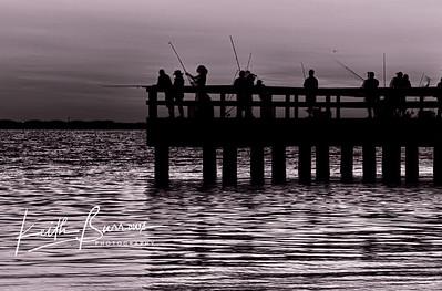 Sanibel Fishing Pier Before Sunrise
