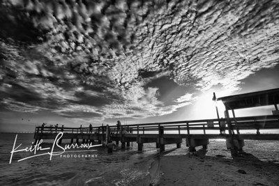 Sanibel Fishing Pier at Sunrise