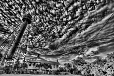 Sanibel Lighthouse with textured clouds
