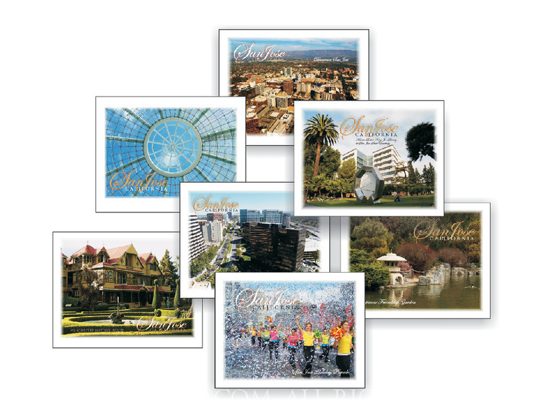 NOTE CARDS AND POSTCARDS THAT SHOWCASE SAN JOSE AS A DESTINATION CITY
