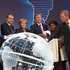 Cebit 2010 in Hannover, Germany: Opening Ceremony  on March 1.  From left to right: August-Wilhelm Scheer Bitkom, Spanish Prime Minister Jose Luis Rodriguez Zapatero, German chancellor Angela Merkel, Bill McDermott Co-CEO SAP AG, Christina Marole runs a shop in South Africa, Christian Wulff Minister President Niedersachsen.