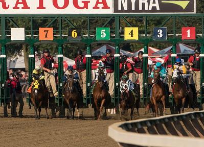 Javier Castellano Keep Cool as Horse Stumbles at Start