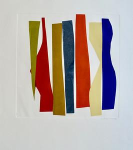 Strip Series IV-Mackey, monoprint on 22x30 paper