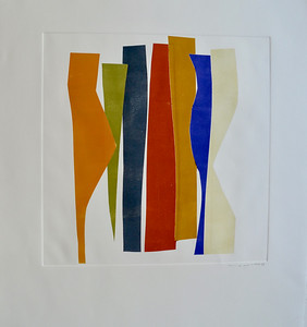 Strip Series III-Mackey, monoprint on 22x30 paper