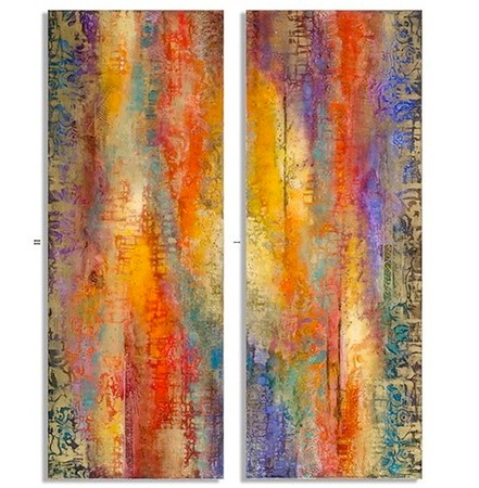 "Brioso I & II - Dupre, 30""x82""x2"" each panel"