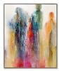 "Metropolitan Shadows-Douglas, 61 5""x51 5""x3"" painting on canvas and framed"