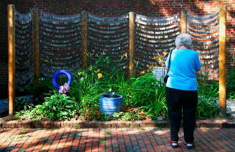 A Mom at Iraq War Memorial