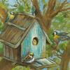 Peek-A-Boo I Jardine, 24x24 on canvas