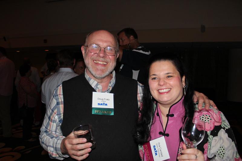 Doug Fratz, CSPA (speaker); Ava Caridad, Spray Technology