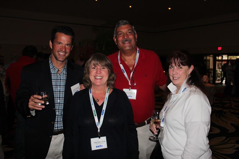 Chris Nyrady, Montebello Packaging; Gale & John Kawalchuk, Precision Global; Maureen Nugent