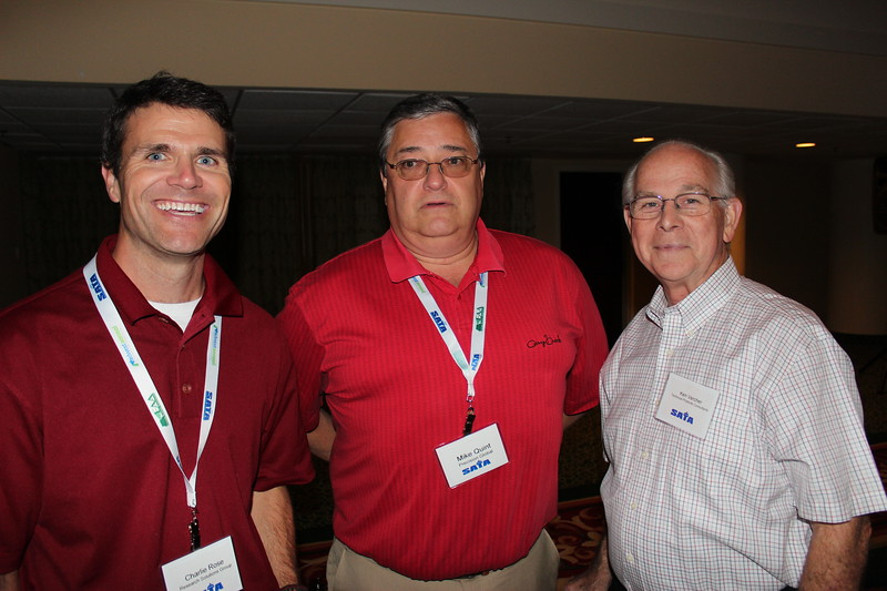 Charlie Rose, Research Solutions Group; Mike Quint, Precision Global; Ken Vercher, Technical Products