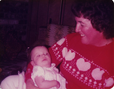 Mom and Chelsea Smith Christmas 1982