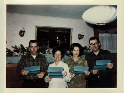 Lowell, Mom, Donna, Eldon Deed to Windmill Place Christmas 1967