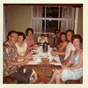 Donna, Mom, Lisa, Jack, Laurie, Gpa Brown, Gma Brown 1964