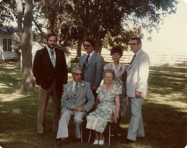 Gma and Gpa Saylor, Eldon, June, Bill, Steve 1980