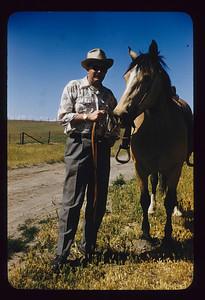 Eldon with horse, Ranch