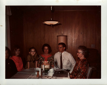 Lisa, Mom, Dad, Gma Saylor on Mom's B-Day
