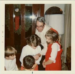 Grandpa Saylor, Lisa, Margaret, Steven, Joe Christmas 1972