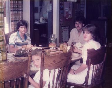 Joe, Andy, Missy, Laura August 1983