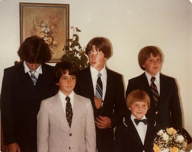 Andy, Joe, Craig, Steven, David 1980