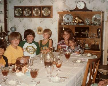 Joe, Steve, Andy, Dave, Margaret, Laura July 1979