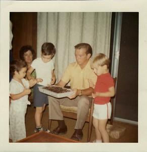Joe, Mom, Andy, Dad, Steven August 1971